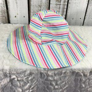 Sun Hat Floppy Striped reversible beach baby
